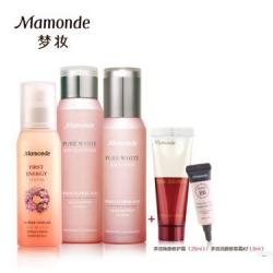 梦妆护肤正品 美白高保湿补水化妆品套装 花萃净白水乳液精华液